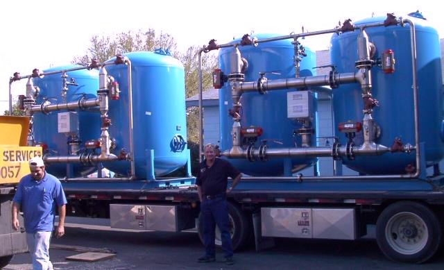 Multiple Duplex Industrial Water Softener Units ASDC-7272-6/2/SS
